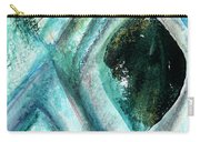 Contemporary Abstract- Teal Drops Carry-all Pouch