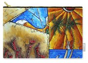 Contemporary Coastal Nautical Tropical Martin Art Original Sailboat Painting Ocean View By Madart Carry-all Pouch