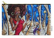 Contemporary New Orleans Jazz Blues Original Painting Singin In The Streets Carry-all Pouch