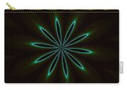 Contemporary Teal Floral On Black Carry-all Pouch