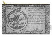 Continental Currency, 1775 Carry-all Pouch