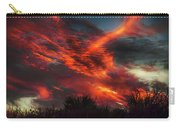 Contrails And Sunset Carry-all Pouch