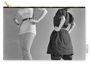 Contrast In Bathing Suit Style Carry-all Pouch