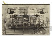 Control Board Engine Room Queen Mary Ocean Liner Long Beach Ca Heirloom Carry-all Pouch