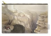 Convent Of St. Saba, April 4th 1839 Carry-all Pouch