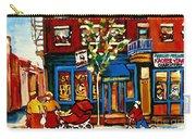 Conversation At St Viateur Bagel Paintings Mehadrin Kosher Deli Authentic Vintage Montreal Cspandau Carry-all Pouch