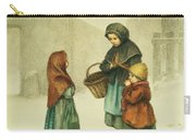 Conversation In The Snow Carry-all Pouch by Pierre Edouard Frere