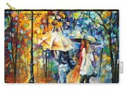Conversation - Palette Knife Oil Painting On Canvas By Leonid Afremov Carry-all Pouch