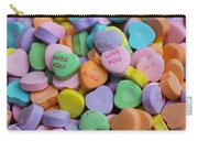 Conversational Hearts Carry-all Pouch