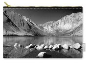 Convict Lake Pano In Black And White Carry-all Pouch