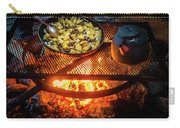 Cooking Meat And Potatoes Carry-all Pouch