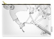 Cool Bmx Drawing Carry-all Pouch by Mike Jory