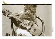 Cool Cat Playing A Guitar Circa 1900 Historical Photo By Photo  Henry King Nourse Carry-all Pouch