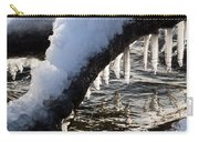 Cool Icicles Reflecting In The Waves  Carry-all Pouch