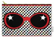 Cool Retro Red Sunglasses Carry-all Pouch