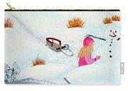 Cool  Winter Friend - Snowman - Fun Carry-all Pouch