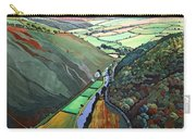 Coombe Valley Gate, Exmoor, 2009 Acrylic On Canvas Carry-all Pouch