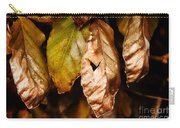Copper Beech Leaves Carry-all Pouch
