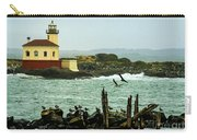 Coquille River Lighthouse And Birds Carry-all Pouch