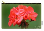Coral Geraniums Carry-all Pouch