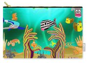 Coral Hands Carry-all Pouch