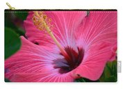 Coral Hibiscus Carry-all Pouch