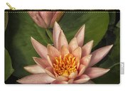 Coral Pink Water Lilies Carry-all Pouch