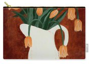 Coral Tulips In A Milk Pitcher Carry-all Pouch