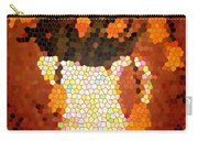 Coral Tulips In Stained Glass Carry-all Pouch