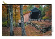 Corbin Covered Bridge Newport New Hampshire Carry-all Pouch by Edward Fielding