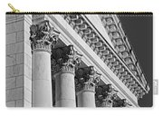 Corinthian Columns Bw Carry-all Pouch