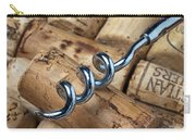 Corkscrew On Corks Carry-all Pouch by Garry Gay