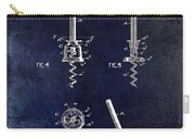 Corkscrew Patent 1897 Blue Carry-all Pouch