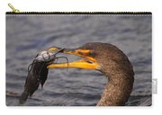 Cormorant Catching Catfish Carry-all Pouch