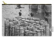Cormorant Landing Black And White Carry-all Pouch