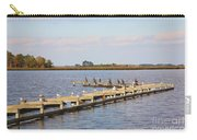Cormorants And Seagulls On Old Dock Near Blackwater  National Wildlife Refuge Near Cambridge Md Carry-all Pouch