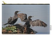 Cormorants Sunbathing Carry-all Pouch