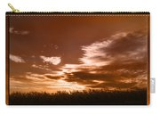 Corn Field Silhouettes Textured Carry-all Pouch