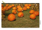 Corn Plants With Pumpkins In A Field Carry-all Pouch