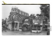 Corner Cafe Main Street Disneyland Bw Carry-all Pouch