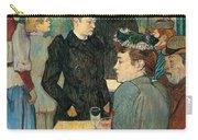 Corner Of Moulin De La Galette Carry-all Pouch by Henri de Toulouse Lautrec