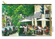 Corner Taverne Terrace French Paris Bistro Painting Sidewalk Cafe Wine Cheese Bar Montreal Cspandau  Carry-all Pouch