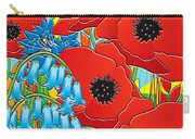 Cornflower Poppies Bluebells Carry-all Pouch