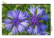 Cornflowers Growing In A Field Carry-all Pouch