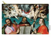Coronation Of The Virgin With Saints Luke Dominic And John The Evangelist Carry-all Pouch