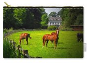 Corralled Horses - Featured In And Lets All Participate And Abc Groups Carry-all Pouch