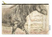 Corralled Stallion Drawn Carry-all Pouch