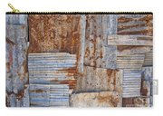 Corrugated Iron Background Carry-all Pouch