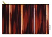 Corrugated Patterns In Orange And Black Carry-all Pouch