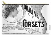 Corset Advertisement, 1885 Carry-all Pouch